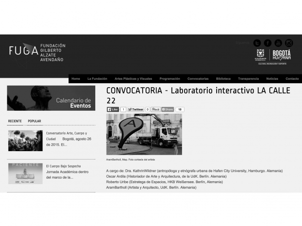 Convocatoria abierta al laboratorio